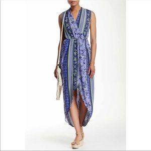 [ASTR] Wrap Front Floral Maxi Dress